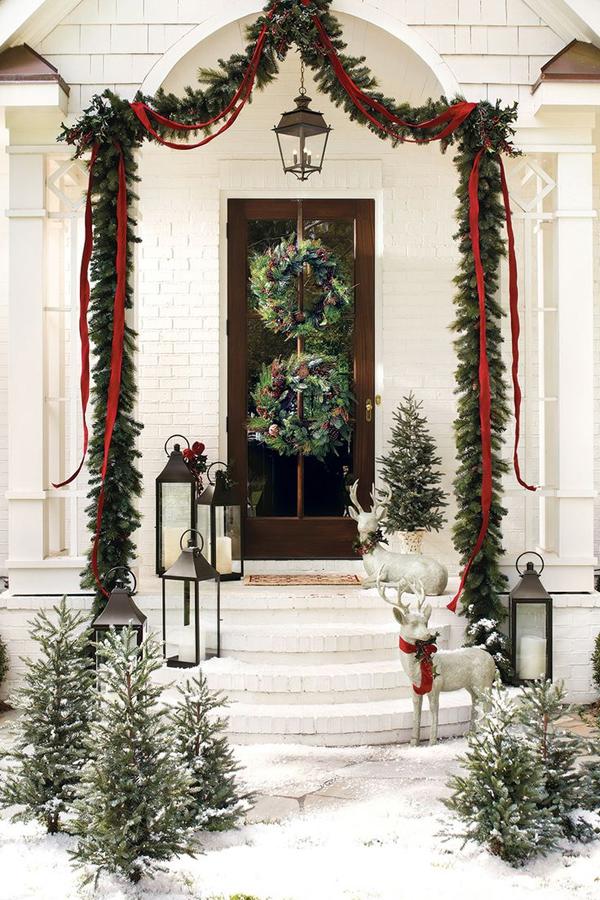 Dekoracje Bożonarodzeniowe Ozdoby świąteczne Na Drzwi I