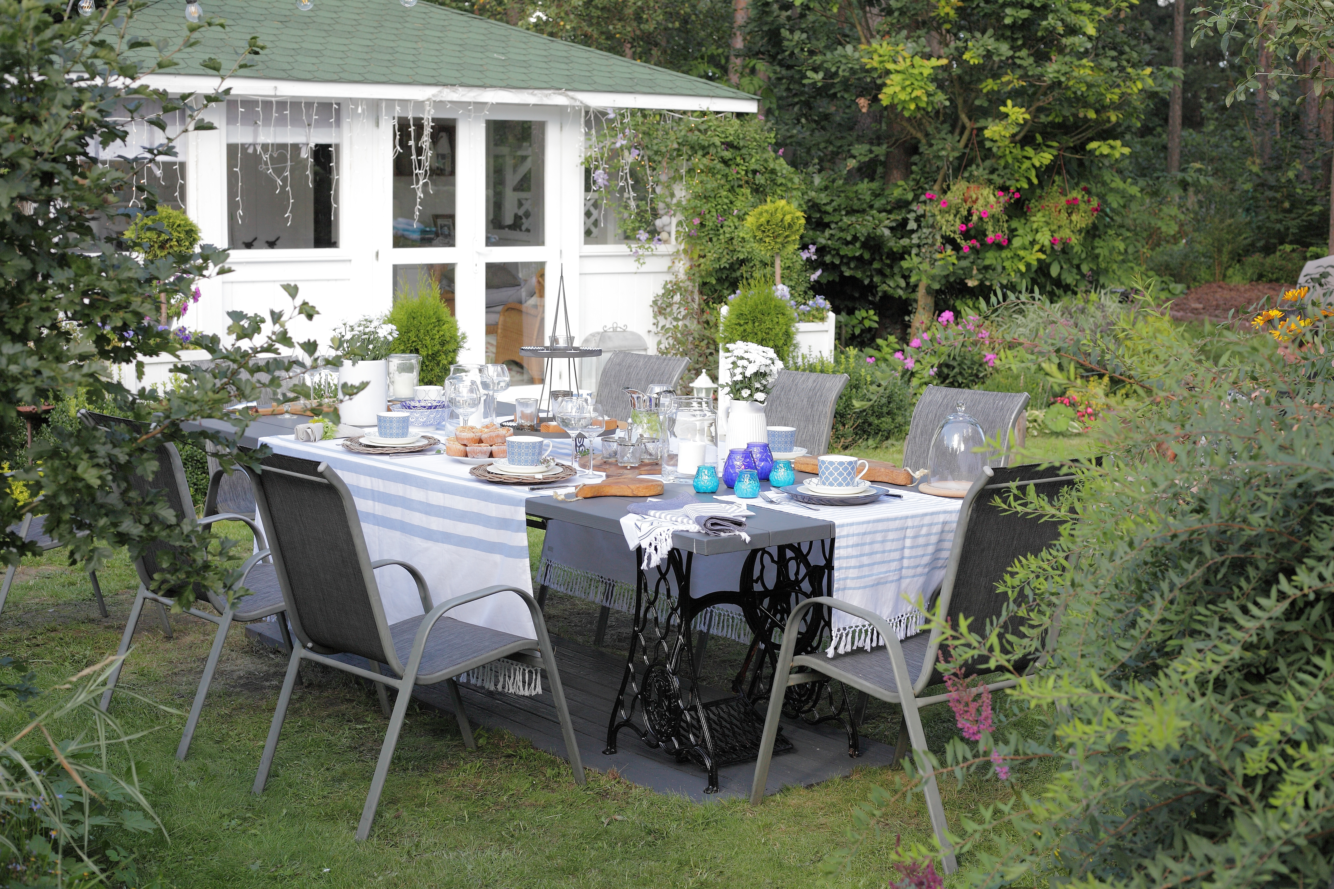 jak samodzielnie zrobić stół do ogrodu
