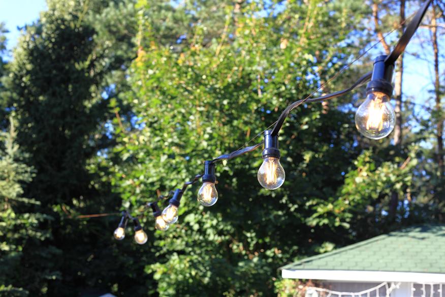 sznur świetlny do ogrodu
