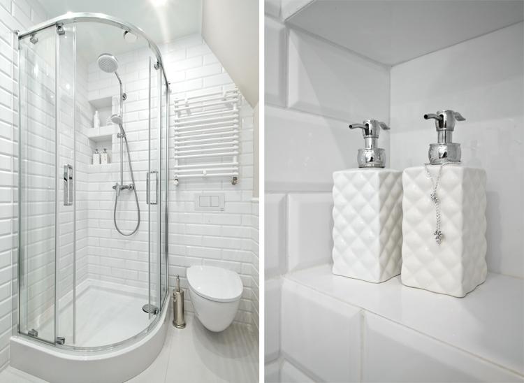 elegancka łazienka z kabiną prysznicową Koło