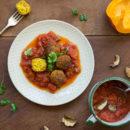 falafel-grzyby-pomidory-dynia-przepis-jesien-autumn-fall-recipe-pumpkin-mushrooms