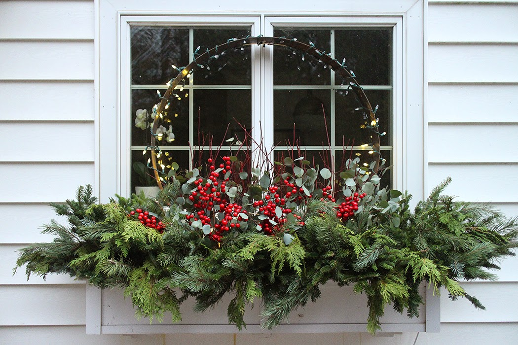 Wiązanka bożonarodzeniowa na parapet zewnętrzny