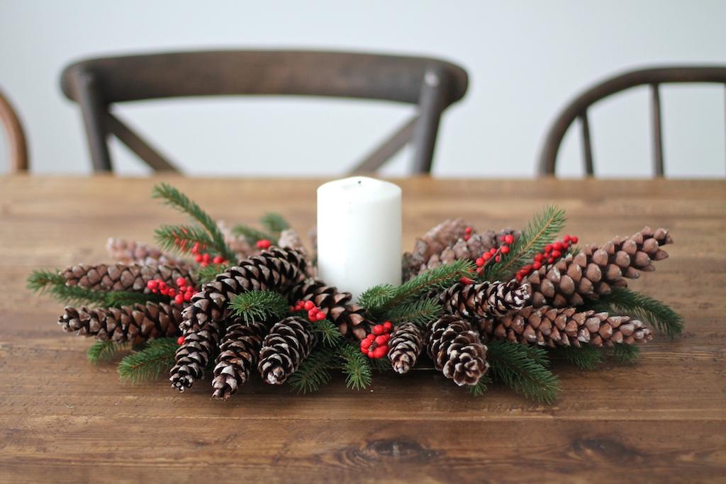Wianek na stół - dekoracje świąteczne