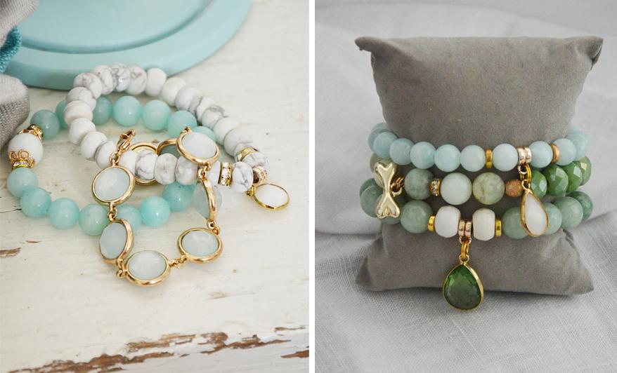 Pomysły na prezenty na Boże Narodzenie dla kobiety - bransoletki z kamieniami ozdobnymi