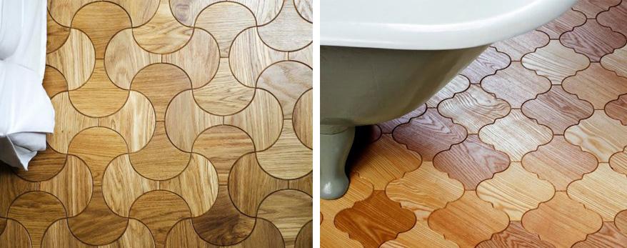 Mozaika drewniana na podłodze - drewniana podłoga