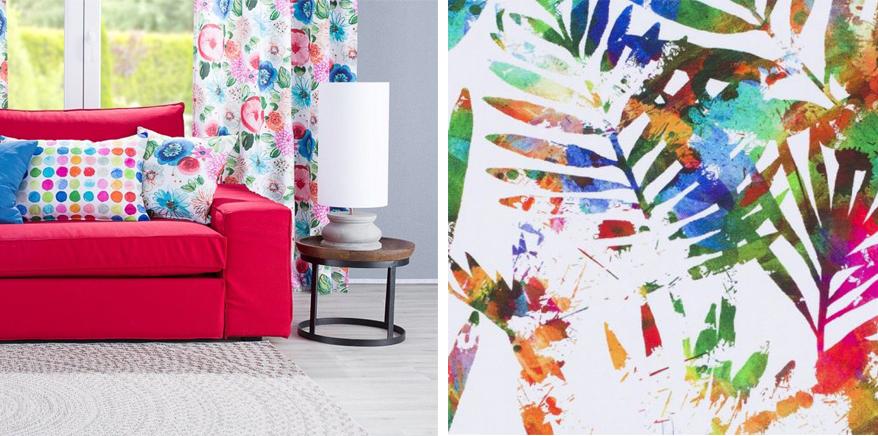 Wiosenna kolorowa kolekcja tkanin dekoria