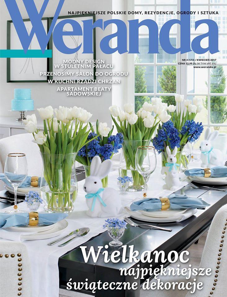 Weranda- wielkanocna aranżacja stołu