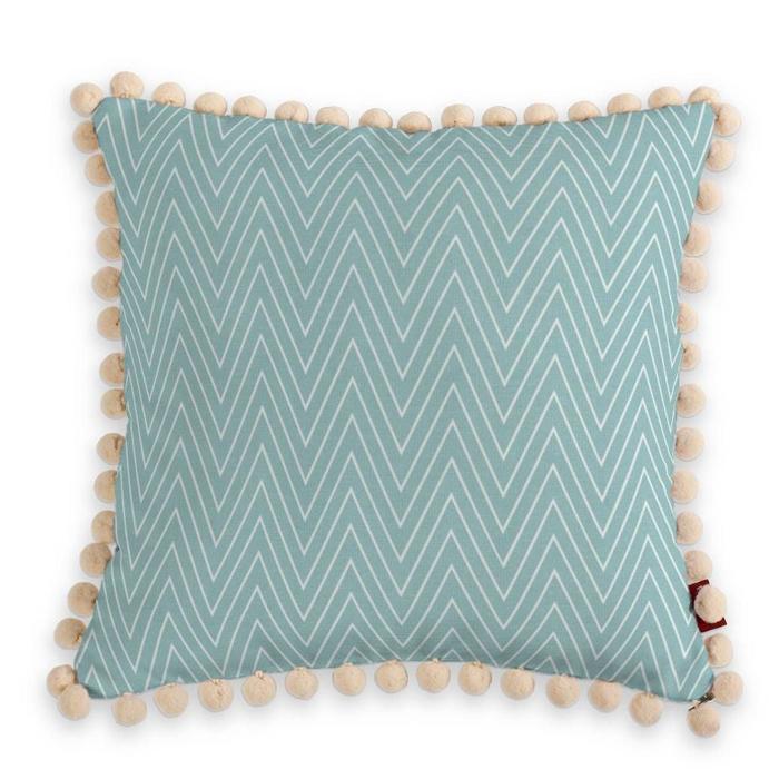 Miętowa poszewka na poduszkę