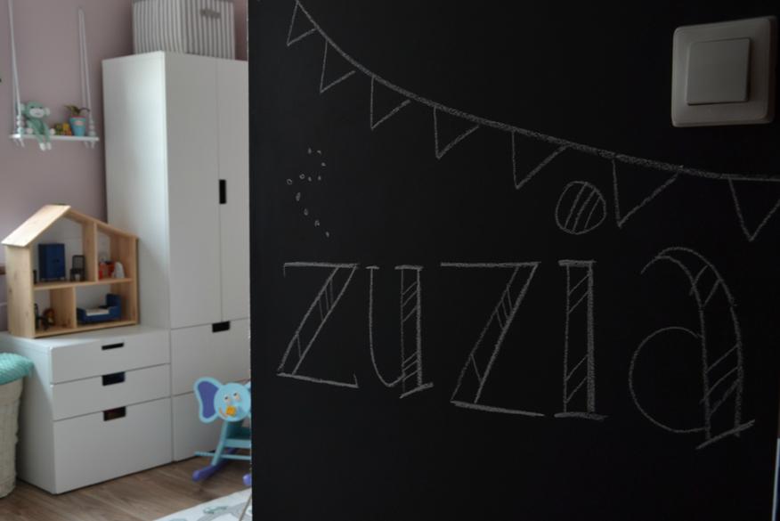 tablica kredowa w pokoju dziecka