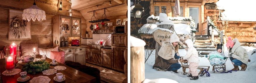 najlepsze miejsca na ferie z dziećmi - klimatyczne domki w górach
