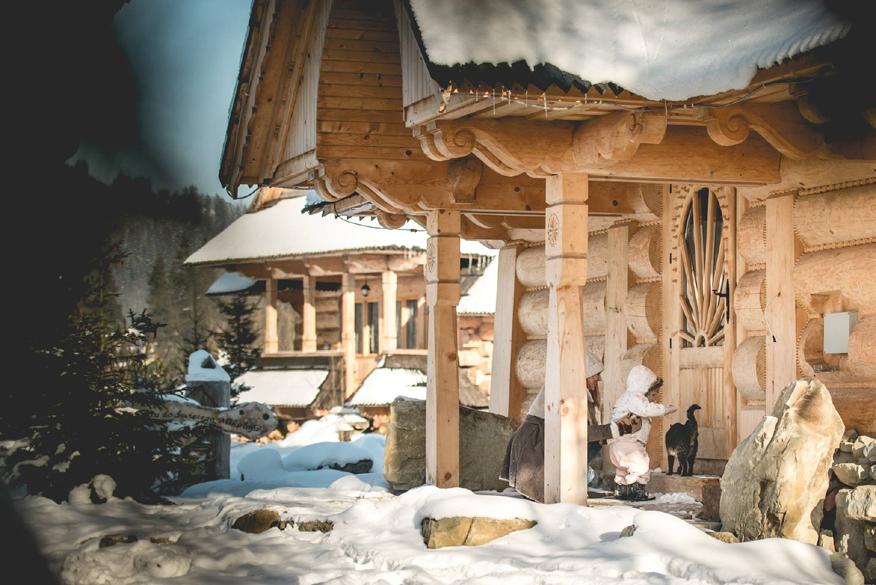 najlepsze miejsca na ferie z dziećmi - górksa osada na ferie