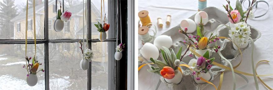 Wielkanocne dekoracje okien Green Canoe