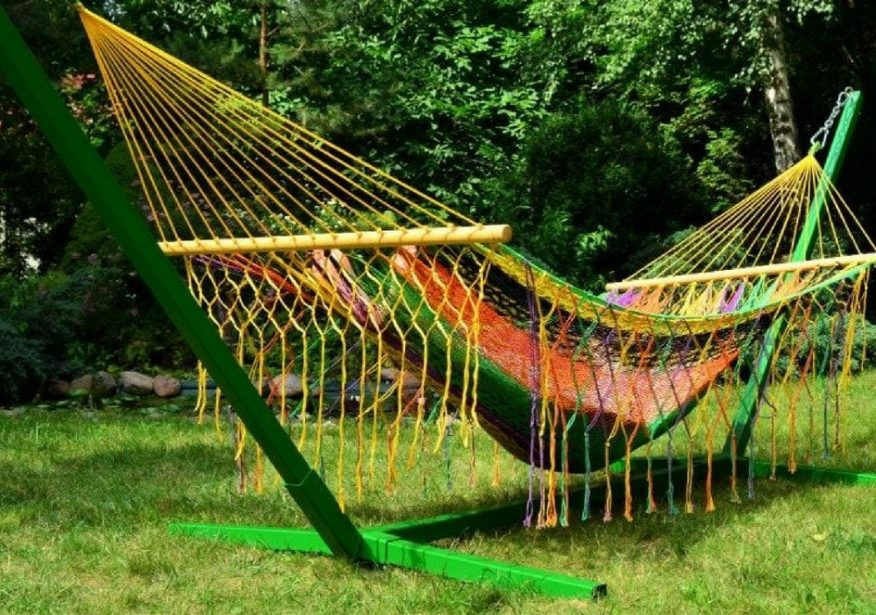 najlepsze hamaki do ogrodu Green Canoe
