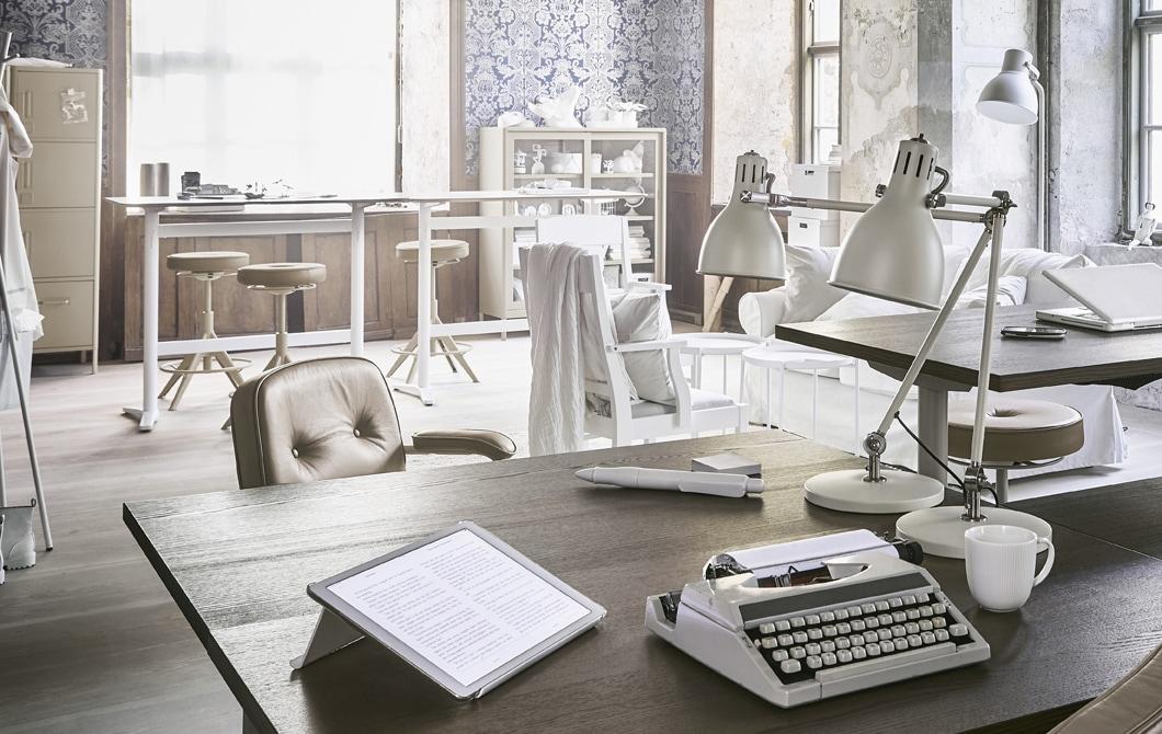domowe biuro GREEN CANOE IKEA