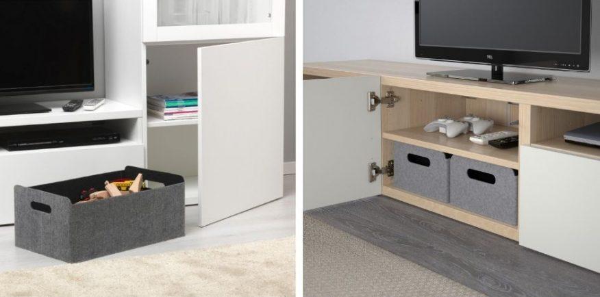 organizacja i przechowywanie IKEA BESTA GREEN CANOE