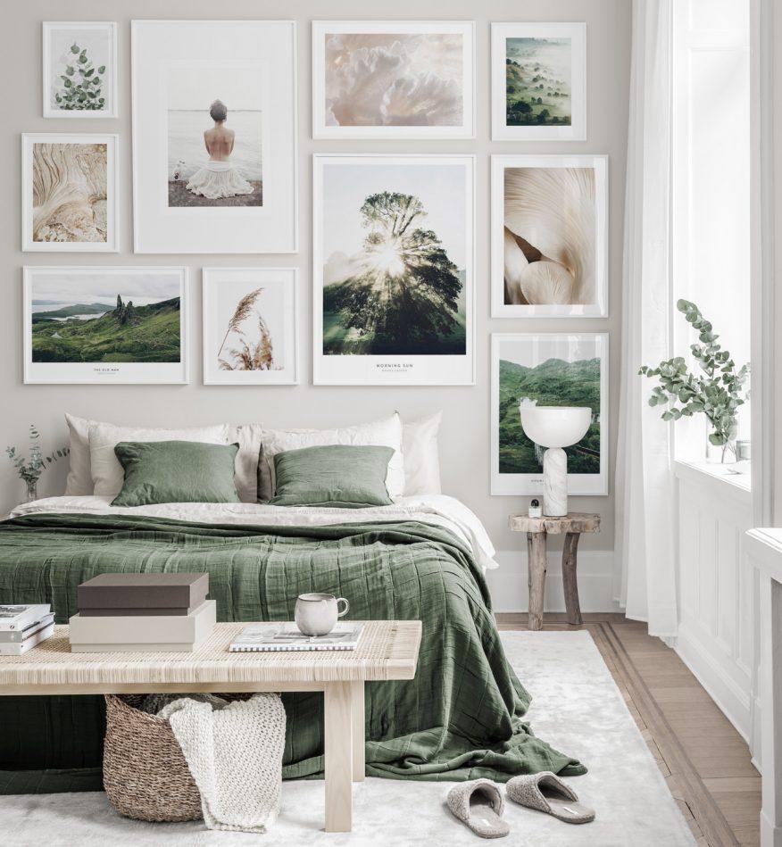 szypialnia plakaty do wnętrz GREEN CANOE