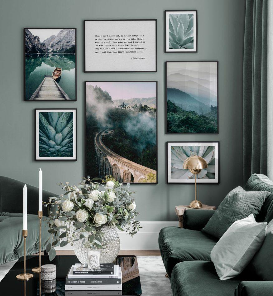 natura plakaty do wnętrz GREEN CANOE